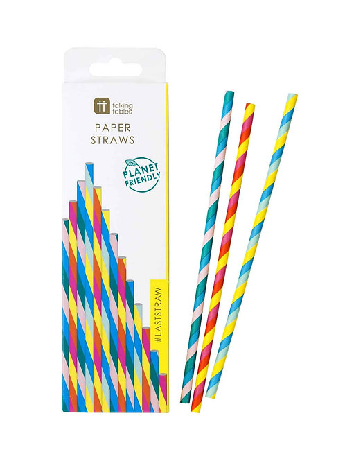 RAINBOW PAPER STRAWS (30PK)