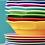 Thumbnail: Melamine Round Side Plate in Fuchsia
