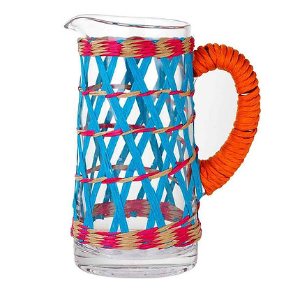 BOHO GLASS PITCHER WITH