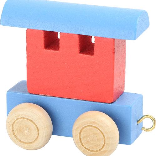Letter Train carriage red & blue