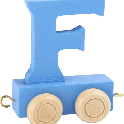 Colored wooden letter F