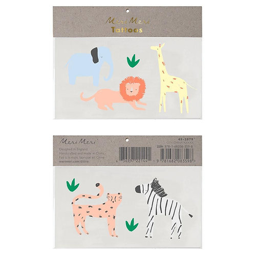Temporary Tattoos - Safari Animal Tattoos