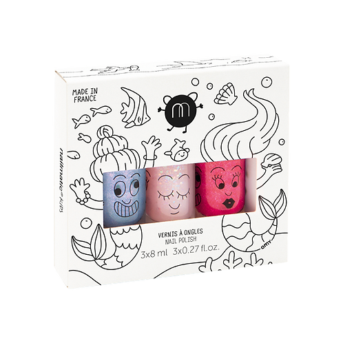Nail Polish Set of 3-Mermaid