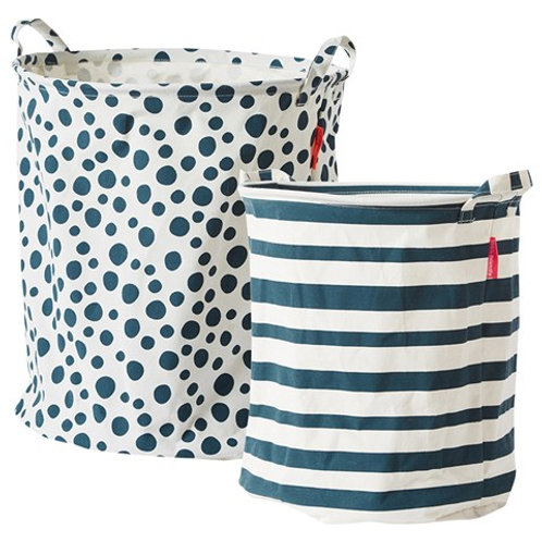 Soft Storage Basket 2Pcs - Blue