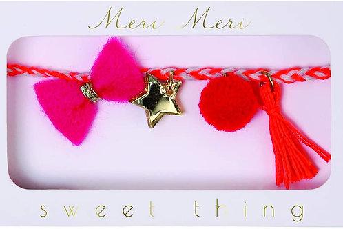 Pink Plaited Bracelet