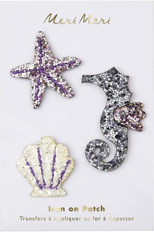 Glitter Sea Creature Patches