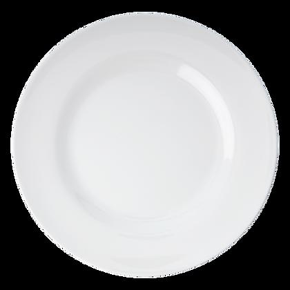 Melamine Round Side Plate in White
