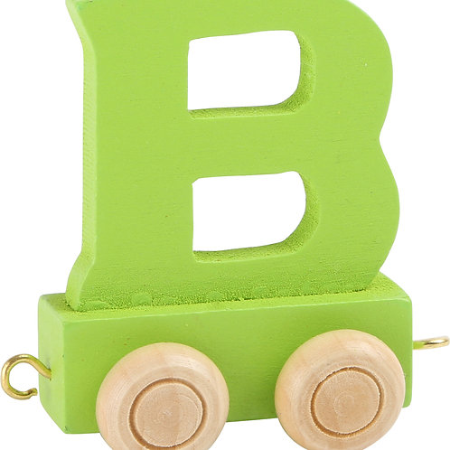 Colored wooden letter B