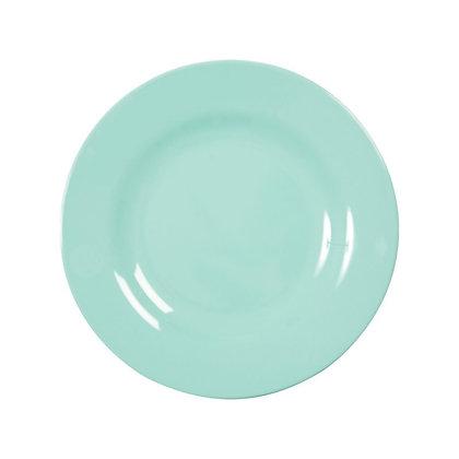 Melamine Round Side Plate in Dark Mint