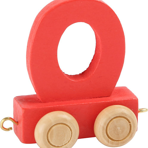 Colored wooden letter O