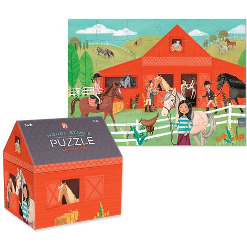 48-Pc Double Fun Puzzles Horse Stable