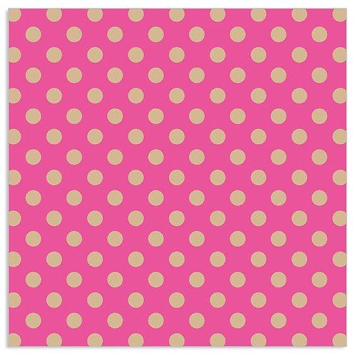 Hot pink / Gold confetti  - Napkin