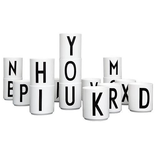 Design Letters Personal Porcelein Cup(A-Z)