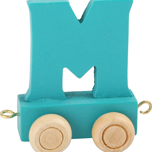 colored wooden letter M