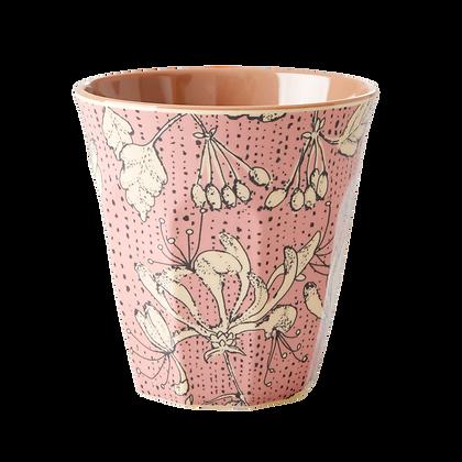 Melamine Cup with Wild Chervil Print - Two Tone - Medium