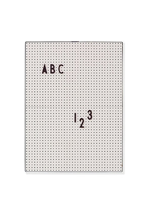 Design Letters Message board A4 Grey
