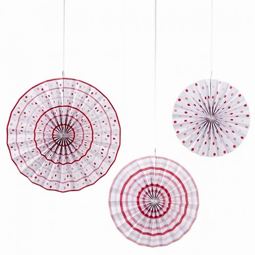 "Pink N Mix Pinwheels - Size: 1 x 14"", 1 x 11"", 1 x 9"""