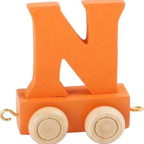 Colored wooden letter n