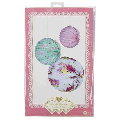 TRULY SCRUMPTIOUS, PAPER LANTERNS, 3 PACK