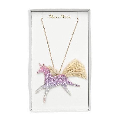 Unicorn Glittered Necklace