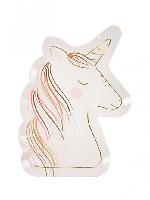 Partyware - Rainbows and Unicorns - Unicornplate Lg S/8