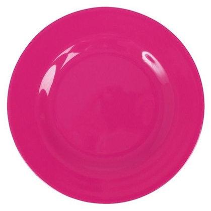 Melamine Round Dinner Plate in Fuchsia