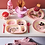 Thumbnail: Melamine Kids Lunch Plate with Pink Jungle Animals