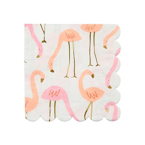 Partyware -Flamingo Npkn Sm S/16