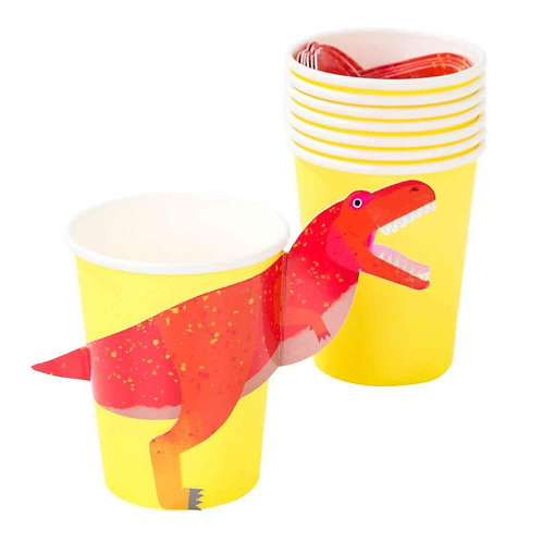 PARTY DINOSAUR 250ML CUP WITH WRAP 12PK