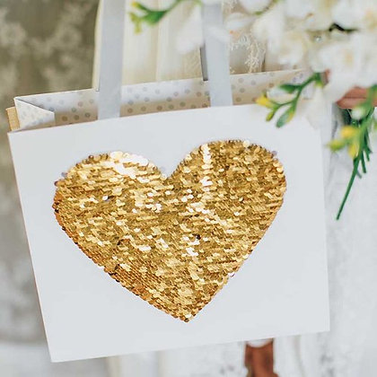 Gift Bag- Gold heart