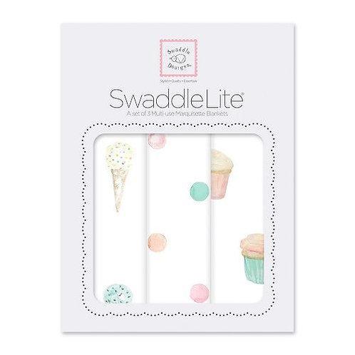 Swaddle Lite - Life's a party - Multi Color - 3pcs