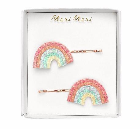Glitter Rainbow Hair Slides