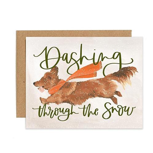 Card- Dashing Dog