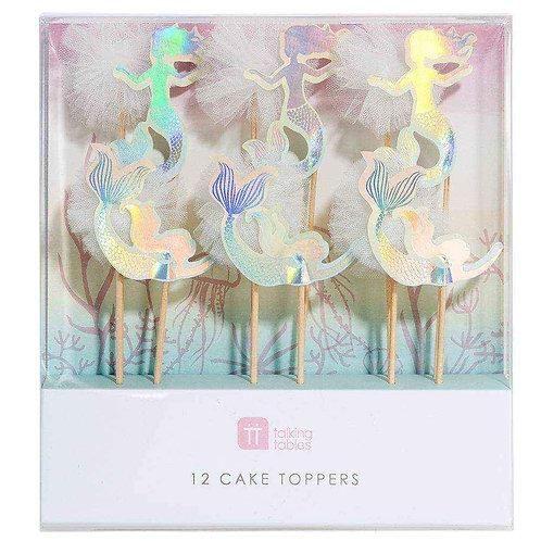 WE HEART MERMAID CAKE TOPPERS PK 12