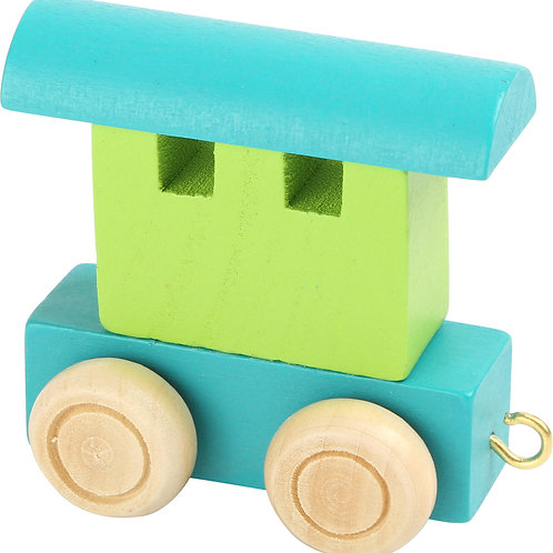 Letter Train waggon- Green & Blue