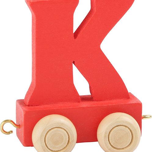 Colored wooden letter k