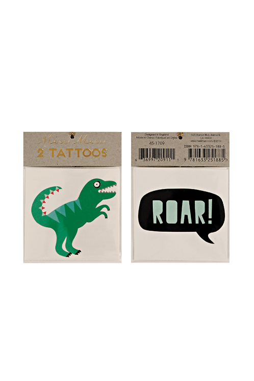 Temporary Tattoos - Dinosaur Tattoos