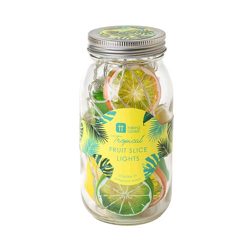 TROPICAL FIESTA, FRUIT SLICE LIGHTS IN PRESENTATION JAR, 1.5M