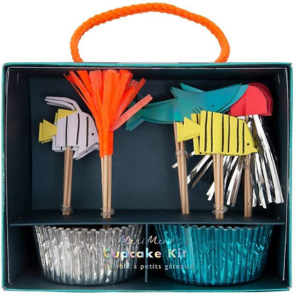 "Partyware - Mermaids, Pirates and ""Under the Sea"" -Under The Sea Cupcake Kit"