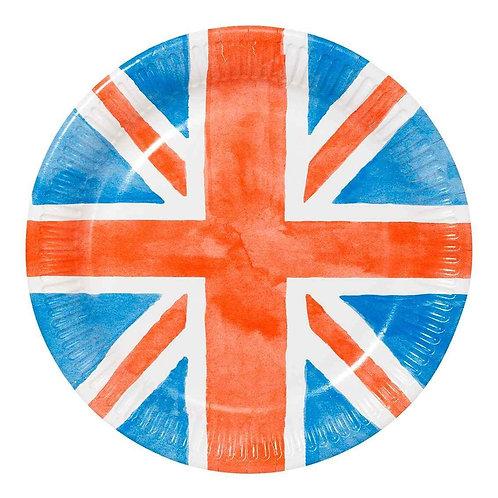 BEST OF BRITISH ROUND PLATE 23CM 8PK
