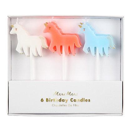Candles Unicorn S/6