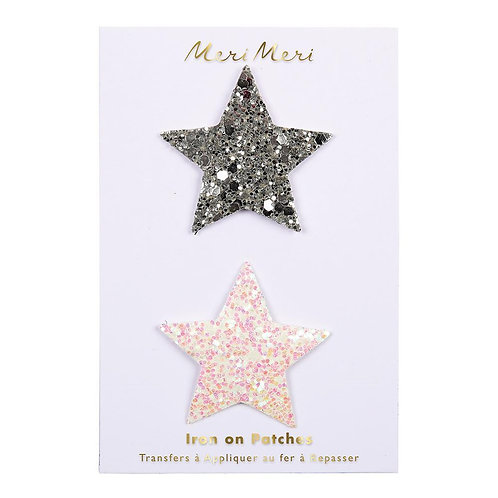 Iron On Glitter Stars Patch