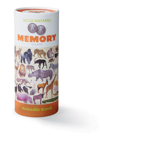 Canister Memory Game-Wild Animals