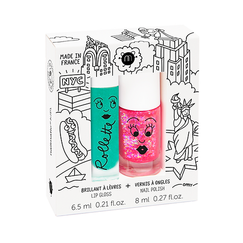 New York - Rollette Nail Polish Duo Set
