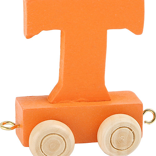 Colored wooden letter T