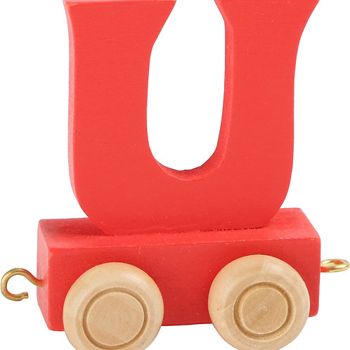 Colored wooden letter U