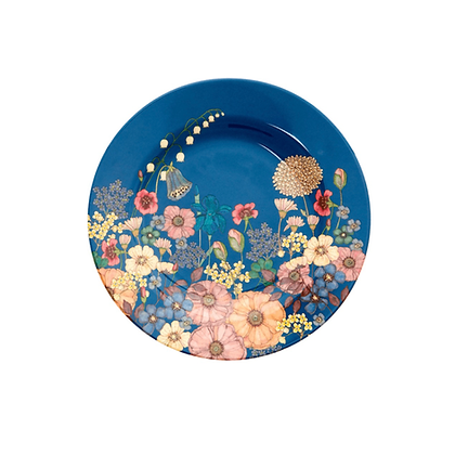 Melamine Side Plate with Flower Collage Print