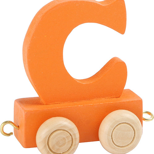 colored wooden letter C