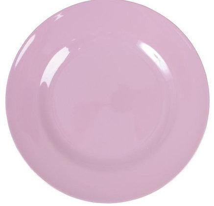 Melamine Round Dinner Plate in Dark Pink