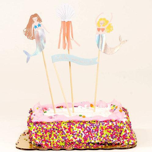 Let's be mermaid cake toppers
